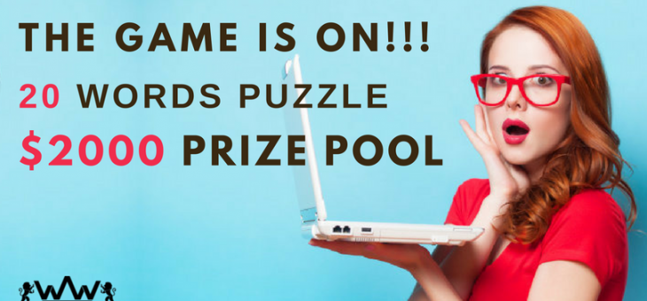 Wealth Words is Offering A Free $2000 Prize Pool Crossword!