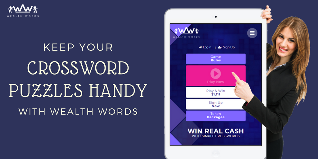 Keep your crossword puzzles handy with Wealth Words.