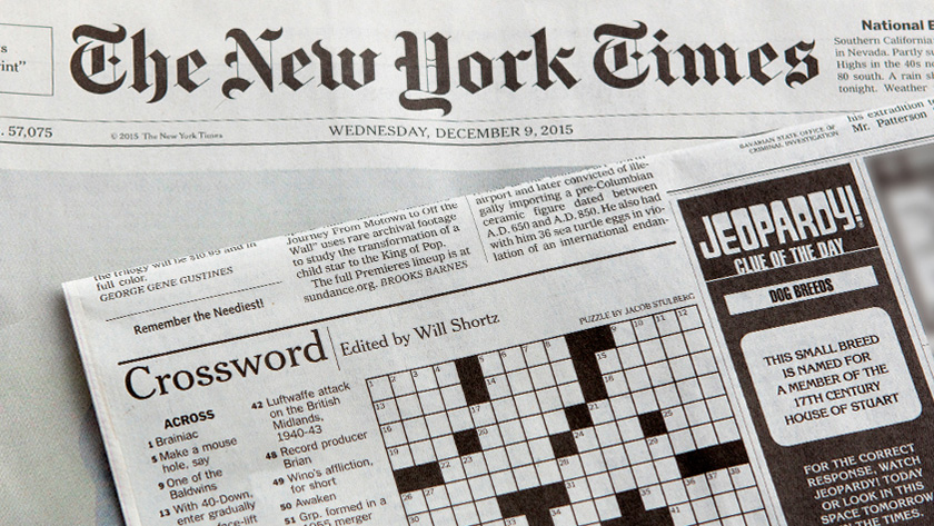 newspaper crossword puzzles