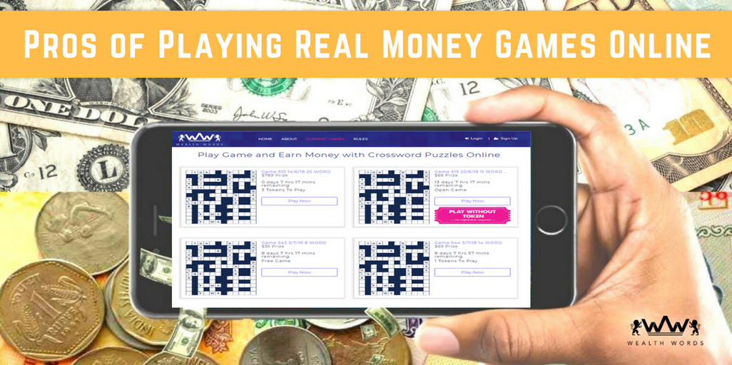 Pros of Playing Real Money Games Online