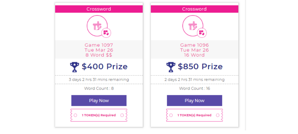 crossword puzzles online, play and win cash, play games for cash, puzzle games online, real money earning games, win real money