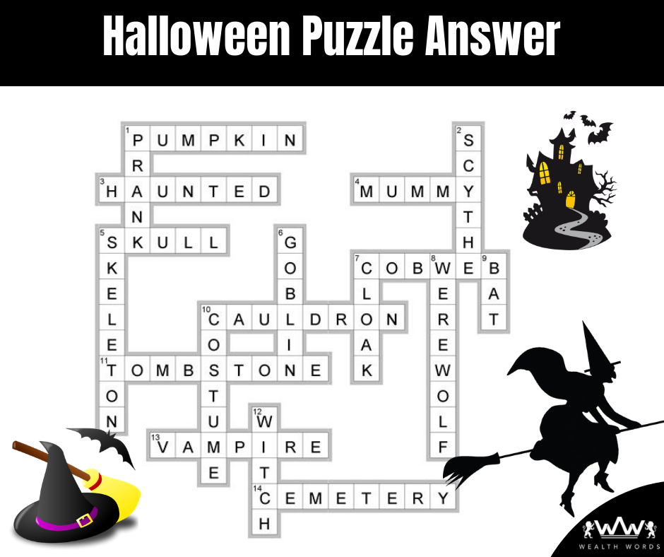 Halloween crossword Puzzle - Answer