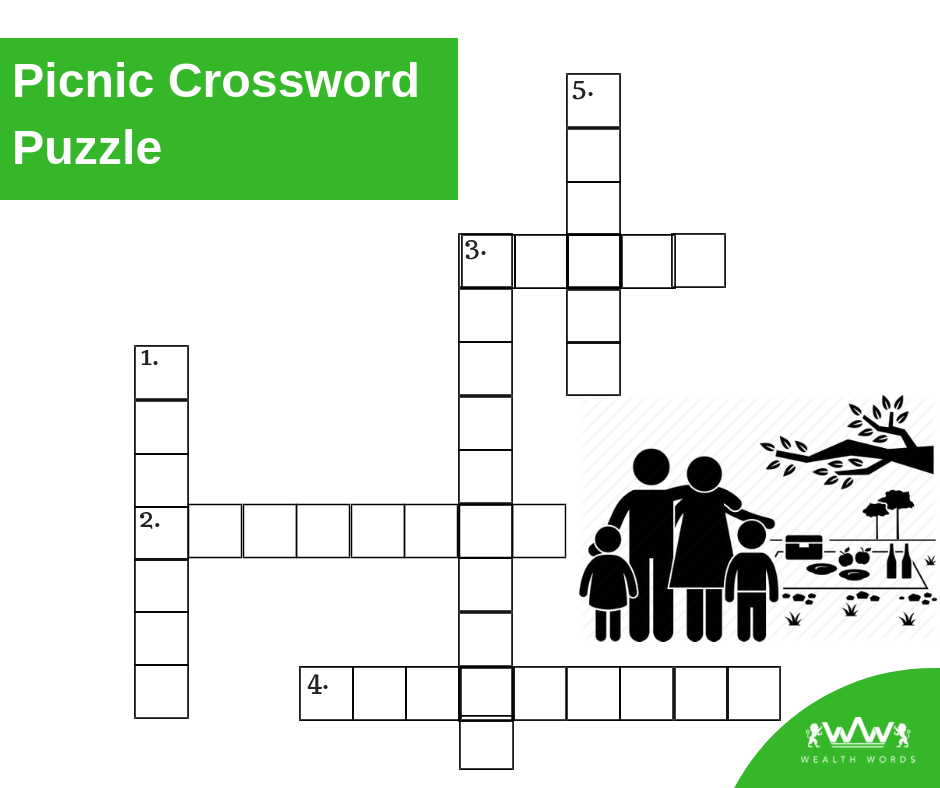 Picnic crossword puzzle-Monday Puzzle - Wealth Words