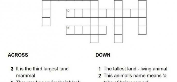 Sunday Puzzle – Solve this Animals Crossword Puzzle!