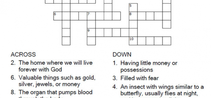 Sunday Crossword Puzzle – Daily Puzzles Online!
