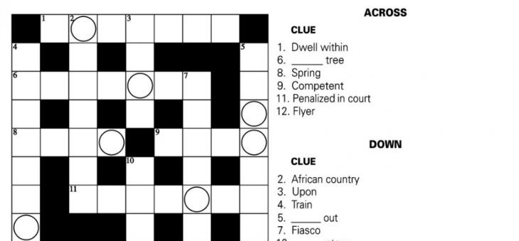Sunday Crossword Puzzle – Solve this Jumble Crossword