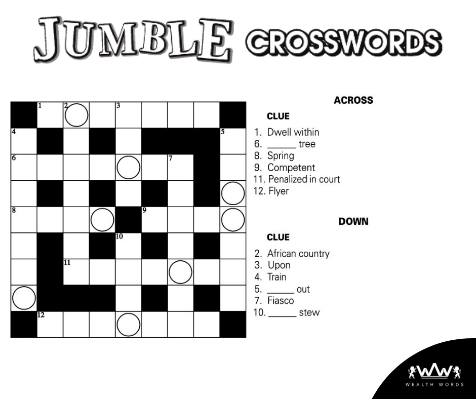 Sunday Crossword Puzzle Solve This Jumble Crossword