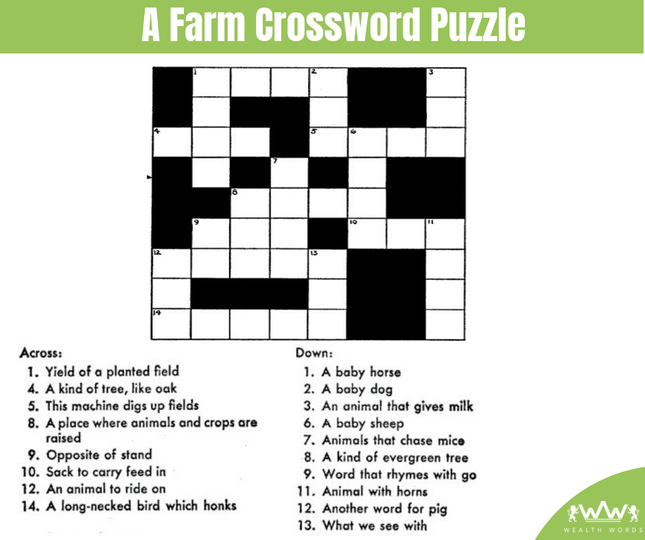Thursday Puzzle - A Farm Crossword Puzzle - 2018-10-25