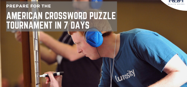 Prepare for the American Crossword Puzzle Tournament in 7 Days