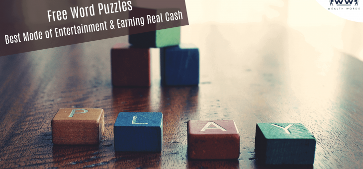 Free Word Puzzles: Best Mode of Entertainment & Earning Real Cash